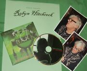 Robyn Hitchcock Autographed Cd And Photos- Real Collectible