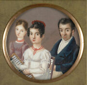 Xaver Franz Milz 1765-1833- Traveling Case With Family Portrait 1820s