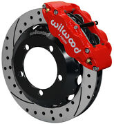 Wilwood Disc Brake Kitfront66-75 Ford Bronco13 Drilled Rotorsred Calipers