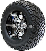 12 Rhox Rx250 Wheel With Tire Combo And Club Car Golf Cart Lift Kit