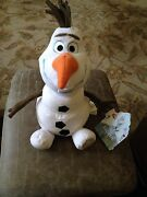 Disney Store Frozen 9 Olaf Plush Toy Nwt Patch On Foot