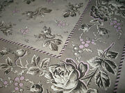 Antique French Neckerchief Scarf, Shawl - Printed Textile - Alsace 19th