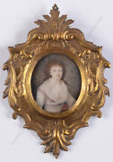 Portrait Of A Young Woman With White Fichu, French Miniature, 1790/95