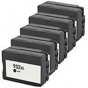 5 Black Ink Cartridge 932xl For Hp Officejet 6100 6600 6700 7100 Printer Chipped