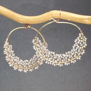 Seychelles 118 Hoop Earrings With Pearl Color And Metal Choice