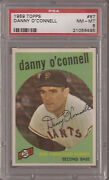 1959 Topps 87 Danny O'connell Giants Psa 8 Nm-mt