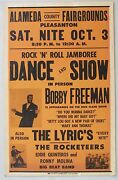Bobby Freeman Boxing Style Concert Poster, Alameda County Fairgrounds, 1959