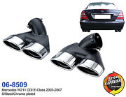 Exhaust Tips Quad Tailpipes Trims For Mercedes Benz W211 Cdi E-class 2003-2007