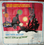 In The Heat Of The Night Sidney Poitier Six Sheets Org 81x81 Movie Poster 60s