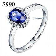 Certified Solid Silver Swiss Diamond Princess Kate's Ring Dia 14,16,18,20mm