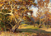 View Of The Arroyo Seco From The ...by Franz Bischoff Giclee Canvas Print Repro