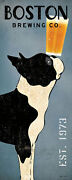 Boston Terrier Brewing Co Panel Ryan Fowler Vintage Ads Dogs Beer Print Poster