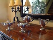 And Co. Sterling Silver 925-1000 Five-piece Tea Set C. 1910and039s-1940and039s