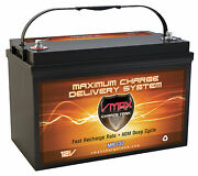 Vmax Mr137 For Fountain Power Boat W/group 31 Marine Deep Cycle 12v Agm Battery
