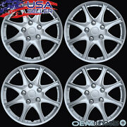 4 New Oem Silver 16 Hubcaps Fits Saab Suv 9-3 9-5 Center Wagon Wheel Cover Set