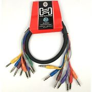 Hosa Css-801 8-channel Balanced Snake 1/4 Inch Trs Male To Same Ofc 3 Feet 1m