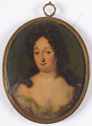 Portrait Of A Lady High Quality Anglo-dutch Oil On Copper Miniature Ca. 1680