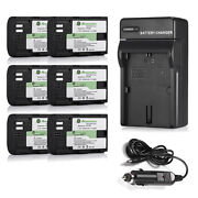 Lpe6 1.6ah Battery And Charger For Canon Eos 6d 60d 7d 70d 5d Mark Ii Iii 2 3 Cam