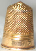 Antique C.1900 18kt Gold Tested Thimblefrom European Estate