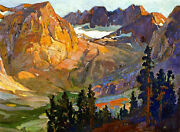 Mount Whitney Country  By Franz Bischoff Giclee Canvas Print Repro