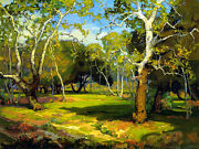 Amidst The Cool And Silence By Franz Bischoff Giclee Canvas Print Repro
