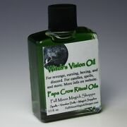 Witch's Vision Oil Anoint Candles Use Spells Wicca Voodoo Full Moon Curse Magic