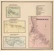 Middleburgh New York - Beers 1866 - 23.00 X 24.57