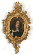 Portrait Of A Young Man Dutch Oil On Copper Miniature 2nd Half Of The 17th C.