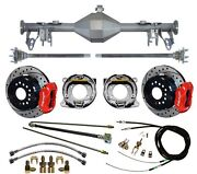 Currie 05-13 Mustang Rear End And Wilwood 12 Drilled Disc Brakes,red Calipers,etc