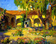 Capistrano Mission  By Franz Bischoff  Giclee Canvas Print Repro