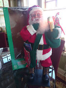 Holiday Creations 26 Animated Special Delivery Santa Mailman W/box Euc