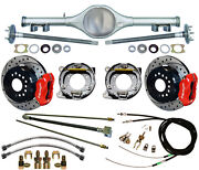 Currie 67-69 Stag Shock F-body Multi-leaf Rear End And Wilwood Disc Brakes,drl,red