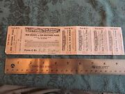 1880s New York And Orange Ny And No Railroad Rahway Valley Rvrr Von Nostrand Ticket