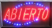 Spanish Bright Abierto Led Open Sign Animated For Business 19 X 10 Spanish