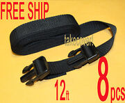 8x Boat Cover Tie Down Strap Kit 1 X 12and039 W/2 Male Ends