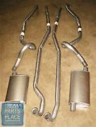 1966-67 Pontiac Gto Lemans Dual Exhaust Complete Without Ram Air Aluminized