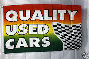 Quality Used Cars Flag 3and039x5and039 Banner Mastercard Visa Business Concession Bright