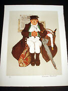 Norman Rockwell Original Lithograph Hand Signed Muggleton's Stagecoach 3/200