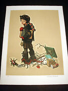 Norman Rockwell Original Lithograph Hand Signed After Christmas 3/200
