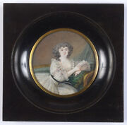 Nicolas Dubois Young Spanish Lady With Letter Fine Miniature 1789