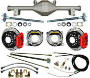 Currie 79-93 Mustang 5-lug Rear End And Wilwood Drilled Disc Brakesred Calipers+