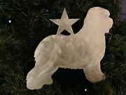 Old English Sheep Dog With Star, Dog Tree Topper, Wreath Decor, Holiday