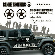 Graphic Vinyl Band Of Brothers Car Sticker U.s. Army Decal For Jeep Wrangler