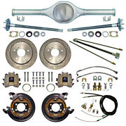 Currie Rear End And Drilled Disc Brakeslinescablesaxlesfits Jeep Cj5cj782-86