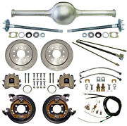 Currie 9 Ford 55 Street Rod Rear End And Disc Brakeslinesparking Cablesaxles