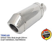 Motorcycle Universal S/steel T304 Performance Short Exhaust Muffler 60mm 2.36and039and039