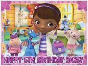 Doc Mcstuffins Ice Birthday Edible Image Cake Topper Personalized Frosting Sheet