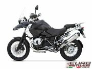 Bmw R1200gs And Adventure 2010-2012 Zard Exhaust Conical Polished Silencer