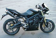 Street Triple 675 Exhausts 2007-2012 Sp Engineering Carbon Round Big Bore Xls