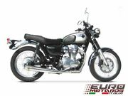 Kawasaki W800 Zard Exhaust Full Complete System With Conical Silencer New